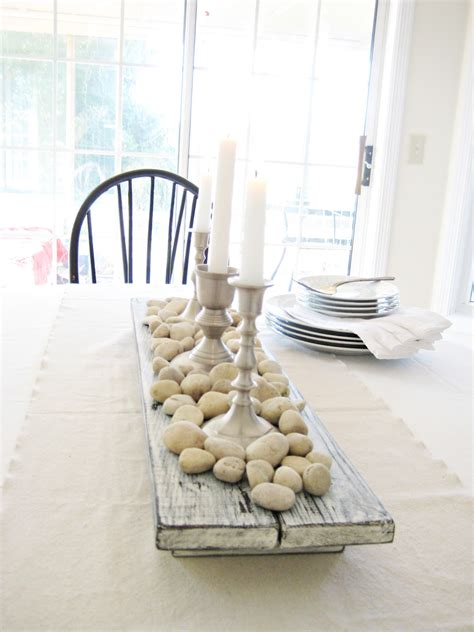 Dining Table Centerpiece Wood Happy At Home Diy Rustic Farmhouse Centerpiece
