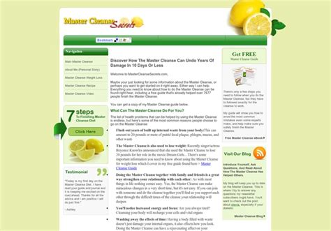 10 Day Master Cleanse Detox Diet by Master Cleanse 10 Day Diet Health