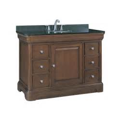 lowes sink bathroom vanity shop allen roth fenella rich cherry undermount single