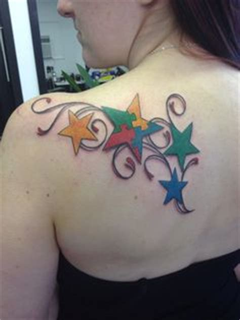 flying chicken tattoo ideas on autism puzzle pieces and