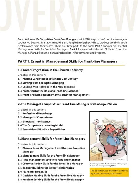 Mini Mba Rutgers Business Essentials by How To Develop Effective Pharma Front Line Managers