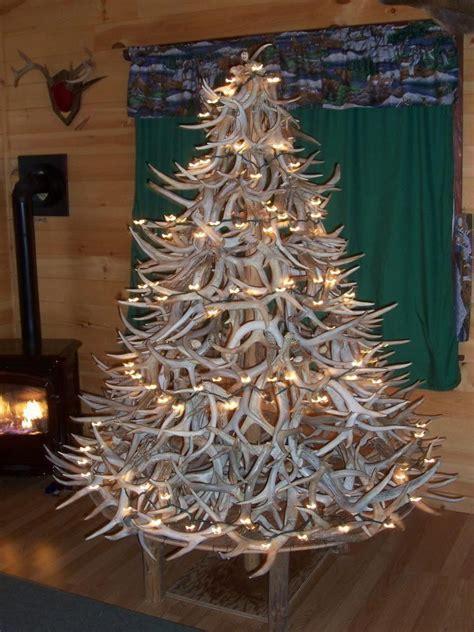 redneck antler christmas tree merry christmas