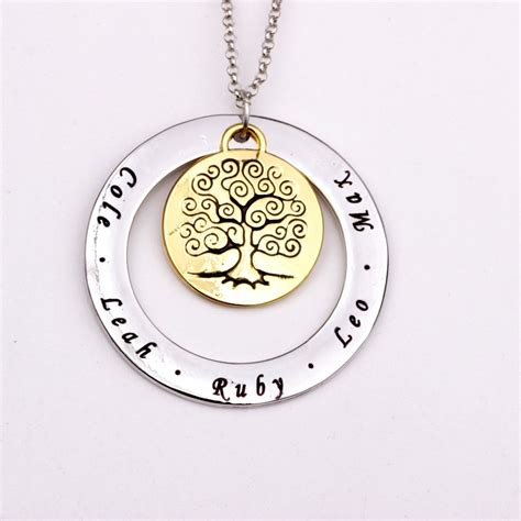 s day for family family tree necklace personalized names best gift on