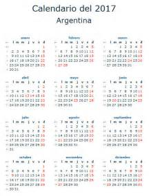 Calendario De Feriados Calendario Laboral 2017 Para Argentina Calendario 2017