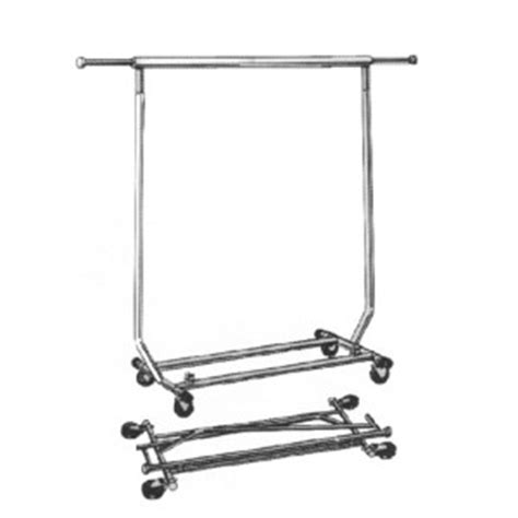 Salesman Rack Collapsible Rolling by Rolling Garment Clothing Racks Store Fixtures And Supplies