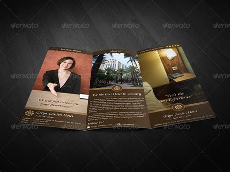 free templates for hotel brochures griya hotel trifold brochure by arvaone graphicriver