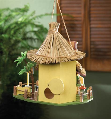 Tiki Hut Bird House tiki hut birdhouse wholesale at koehler home decor