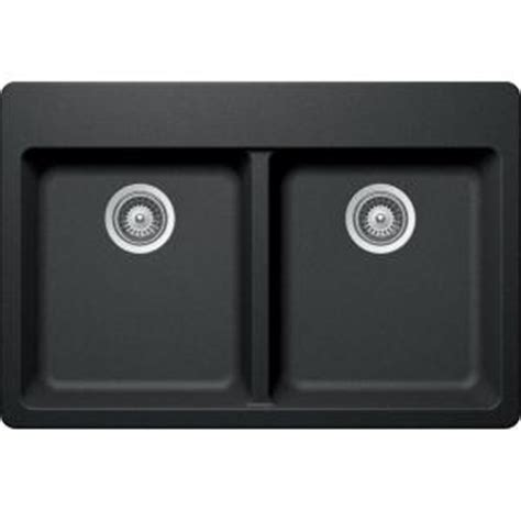 Elkay Elkay By Schock Dual Mount Quartz Composite 33 In Double Bowl Kitchen Sink In Charcoal Elkay Schock Sink Template