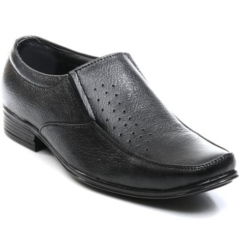 buy bacca bucci leather formal shoes black 4397