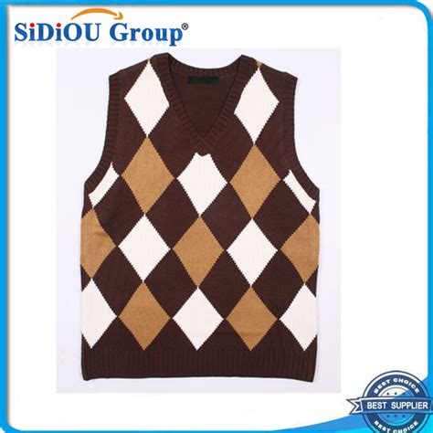 diamond pattern sleeveless jumper diamond sleeveless sweater knitting pattern for men buy