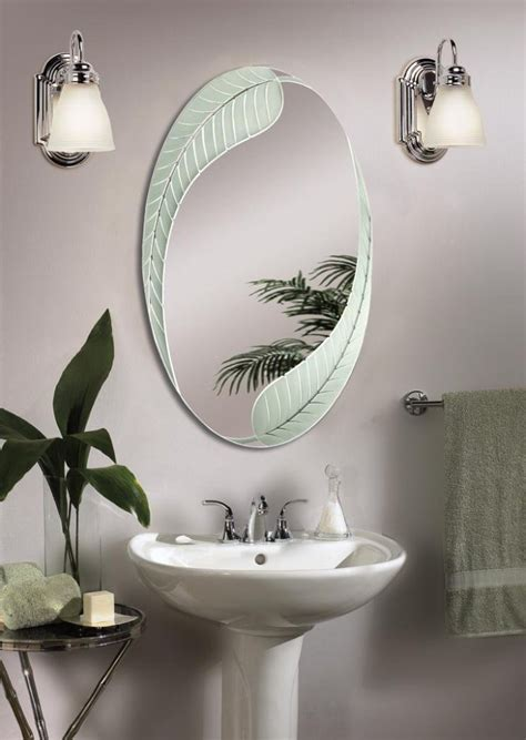 decorative bathroom mirrors and mirror designing tips oval mirror and classic pedestal sink for decorative