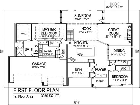 One Level House Plans With Garage by Single Story Open Floor Plans Single Story House Plans
