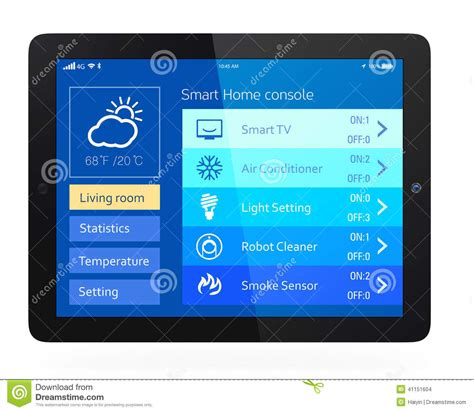 home console smart home console stock photo image of phone monitoring