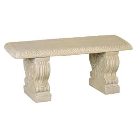 concrete benches home depot straight bench desert sand 01 011313ds the home depot