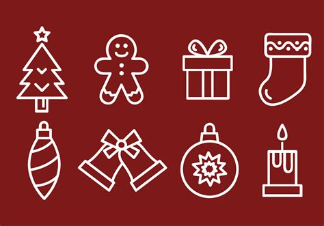 christmas icons vector   vector art stock graphics images