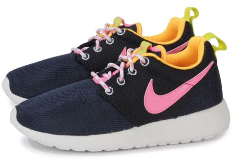 Nike Rhose Run nike roshe run enfant bleu marine chaussures
