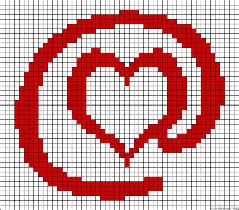 heart intarsia pattern heart perler bead pattern intarsia crochet pinterest