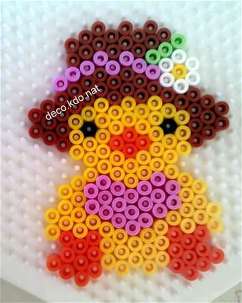 easter hama easter with hat hama perler by deco kdo nat