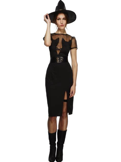 Costume Hallowen Black 1 fever enchanting cat witch costume 43503 fancy dress