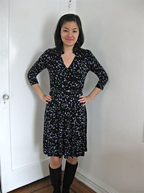 pattern for jersey on the fly jersey dress sewing projects burdastyle com