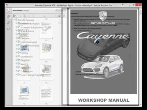 how to download repair manuals 2008 porsche cayenne engine control porsche cayenne 92a workshop repair service manual youtube