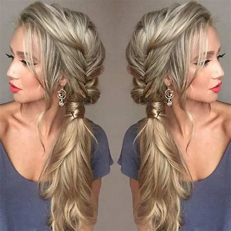 Side Hairstyles For by 21 Pretty Side Swept Hairstyles For Prom Fishtail
