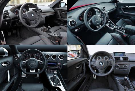 Bmw 1er M Coupe Innenraum by Das Bmw 1er M Coup 233 Der Audi Rs3 Der Tt Rs Im Bildvergleich