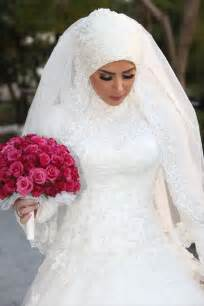 Wedding dresses with hijab bridesmaid dresses v neck chiffon