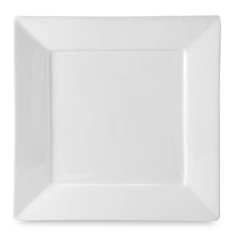 bed bath and beyond dinner plates everyday white 174 by fitz and floyd 174 rim square dinner plate