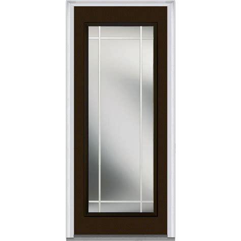 32 Inch Fiberglass Exterior Door Milliken Millwork 32 In X 80 In Gbg Left Lite Classic Painted Fiberglass Smooth