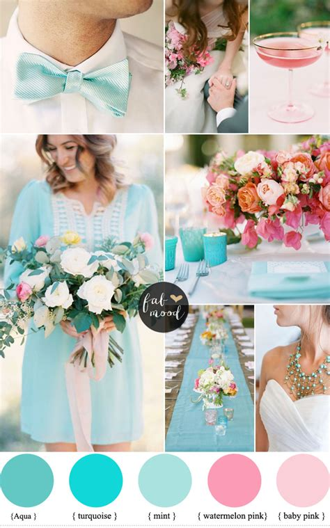 aqua green wedding ideas pink and turquoise wedding ideas cheerful duo