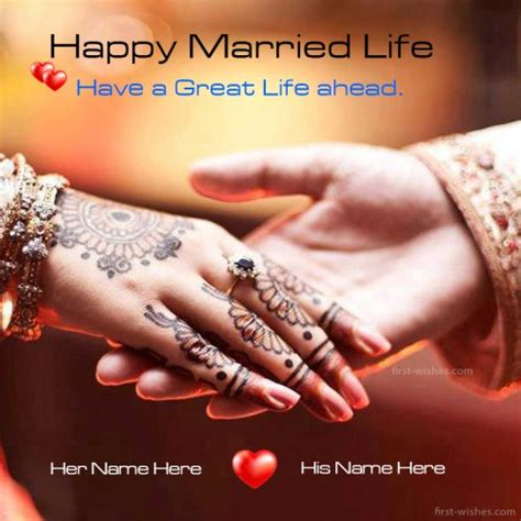 happy married life wishes wedding day wishes card  wishes