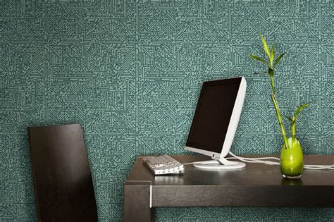 home office wallpaper circuit board wallpaper modern home office detroit