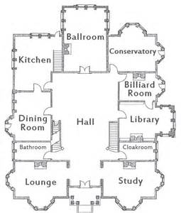 Clue Movie House Floor Plan Theartofmurder Com Clue First Floor For The Little