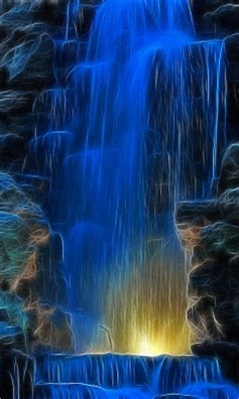 themes mobile waterfall the zedge lovely blue waterfall wallpaper for mobile 306x640