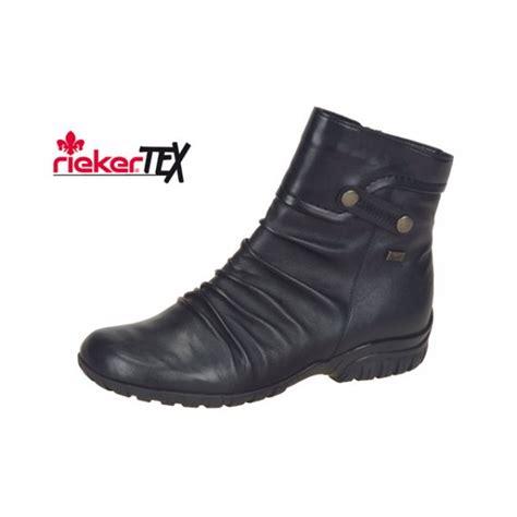 z4652 02 black leather waterproof ankle boot