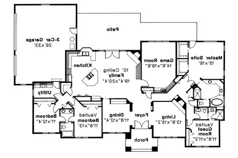Southwest Floor Plans by Southwest House Plans Barstow 30 050 Associated Designs