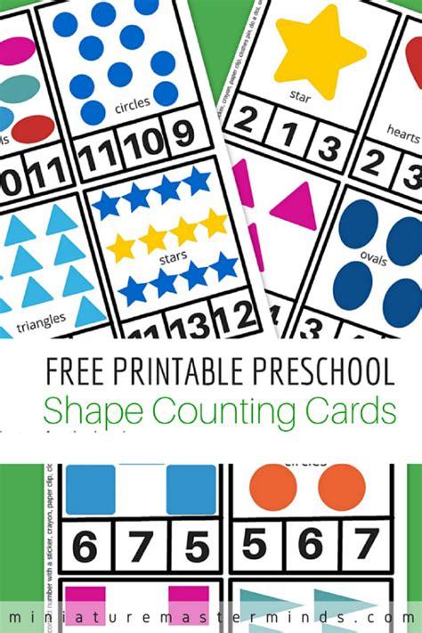 Free Printable Preschool Clip free printable preschool shape clip counting cards