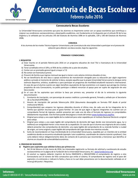 convocatoria ascenso de categoria 2016 convocatoria de becas escolares febrero julio 2016