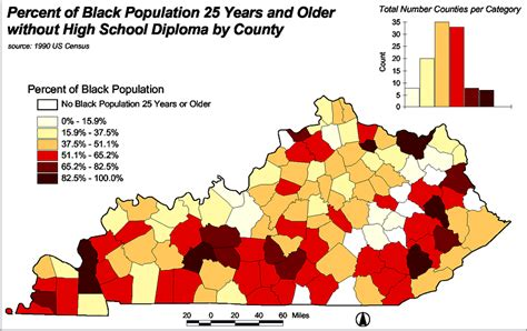 kentucky demographic map master data list for the state of black kentucky