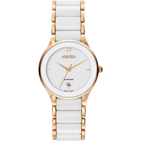 roamer of switzerland ceraline saphira white gold