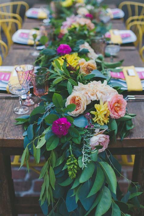 fresh flower table runner fresh floral table runners the wedding