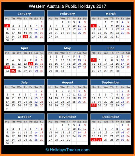 western australia australia public holidays  holidays tracker