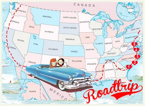 map a road trip week on the east coast usa roadtrip the the