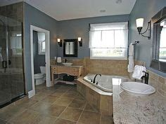 perfect bathroom kitchen maple cabinets blue gray walls new house