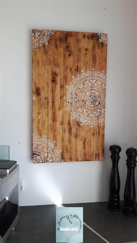 len aus treibholz diy mandala wandbild auf holz mit kreidefarbe vintage