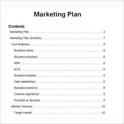 B2b Marketing Strategy Template by Sle Marketing Plan Template 9 Free Documents In Word
