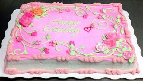 Decorated Birthday Cakes At Walmart by Pink Sheet Cake Decorated By Leslie Schoenecker At
