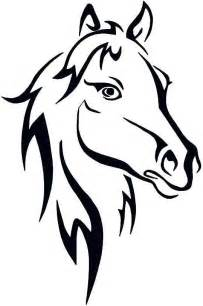 Horse Outline Embroidery Design  Coloring Pages Free Download HD sketch template