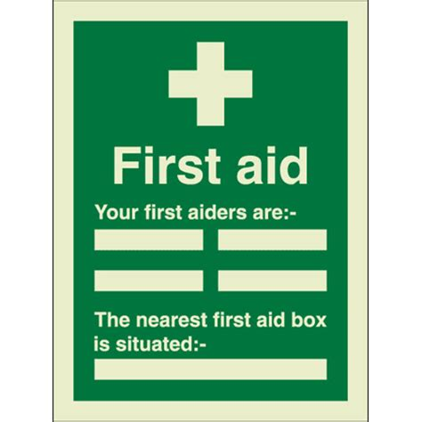 aid template signs for safety aid at a glance guide